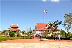 Khu lưu niệm Chủ tịch Hồ Chí Minh ở Xiềng Vang, xã Xiềng Mương, huyện Noỏng Bốc, tỉnh Khăm Muộn, Lào
