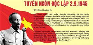 """Những tư tưởng lớn của Chủ tịch Hồ Chí Minh qua """"Tuyên ngôn độc lập"""""""