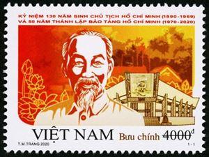 Phát hành bộ tem đặc biệt kỷ niệm 130 năm ngày sinh Chủ tịch Hồ Chí Minh và 50 năm thành lập Bảo tàng Hồ Chí Minh