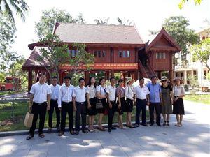 Ban quản lý di tích lịch sử ATK thăm và trao đổi nghiệp vụ tại Khu di tích Kim Liên