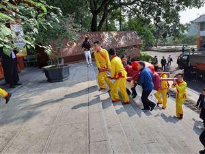 Lễ dâng bánh chưng tại Khu mộ Bà Hoàng Thị Loan - Thân mẫu Chủ tịch Hồ Chí Minh