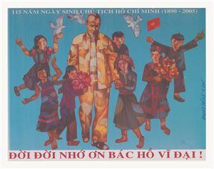 """Họa sĩ Đỗ Mạnh Cương: """"Khi vẽ tranh cổ động, đề tài tôi say mê nhất là đề tài Bác Hồ"""""""