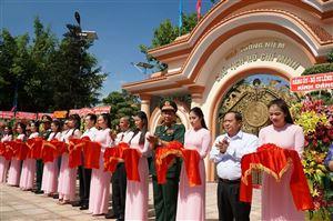 Khánh thành Khu nhà tưởng niệm Chủ tịch Hồ Chí Minh của lực lượng vũ trang Quân khu 9