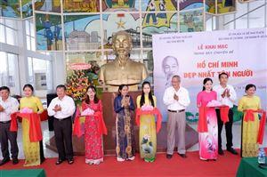 """Bảo tàng Hồ Chí Minh – chi nhánh Thành phố Hồ Chí Minh phối hợp với Bảo tàng tỉnh Bến Tre tổ chức triển lãm: """"Hồ Chí Minh đẹp nhất tên Người""""."""