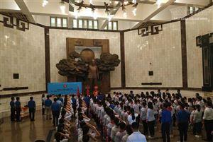 Đội Thiếu niên Tiền phong huyện Gia Viễn tổ chức Lễ Báo công dâng Bác tại Bảo tàng Hồ Chí Minh