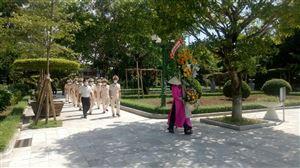Đoàn đại biểu công an tỉnh Nghệ An dâng hương tưởng niệm Chủ tịch Hồ Chí Minh