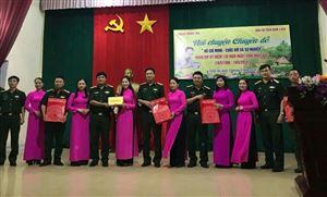 Khu di tích Kim Liên tổ chức nói chuyện chuyên đề tại Trung đoàn 764 - Bộ chỉ huy Quân sự tỉnh Nghệ An
