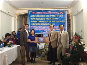 Đoàn cơ sở Bảo tàng Hồ Chí Minh tham gia chương trình từ thiện tại Trung tâm Hướng nghiệp dạy nghề, Hỗ trợ trẻ thiệt thòi năm 2019