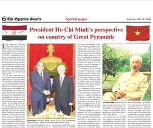 Báo Ai Cập đăng bài viết ca ngợi Chủ tịch Hồ Chí Minh