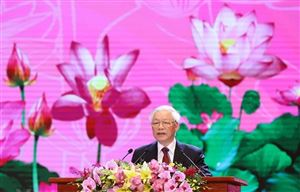 Bài diễn văn của Tổng Bí thư tại Lễ kỷ niệm 130 năm Ngày sinh Bác Hồ