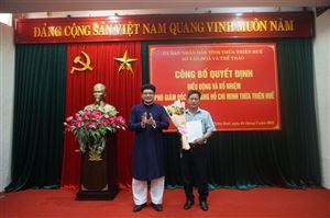 Công bố quyết định điều động và bổ nhiệm Phó Giám đốc Bảo tàng Hồ Chí Minh Thừa Thiên Huế