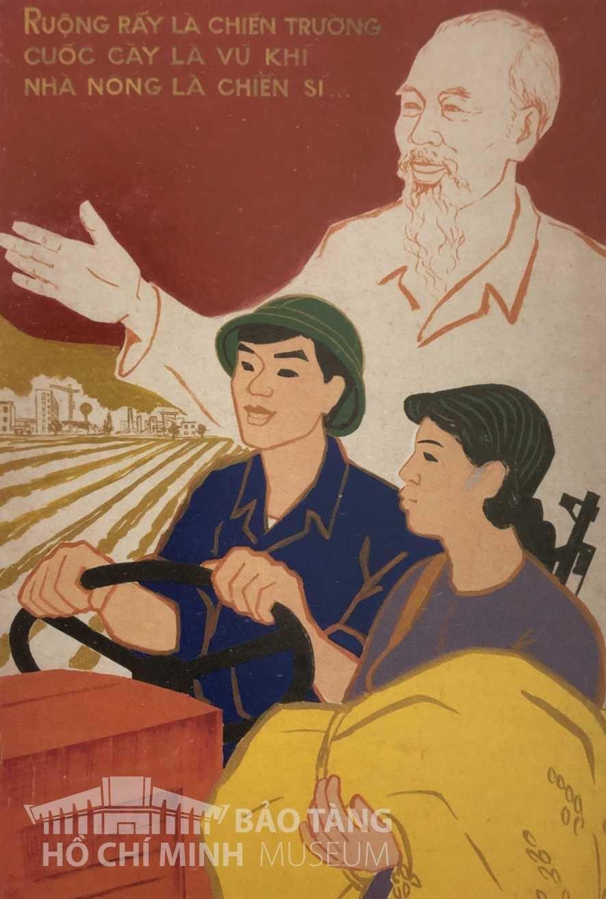 Tranh: Lương Xuân Hiệp Bột màu Nguồn: Bảo tàng Hồ Chí Minh