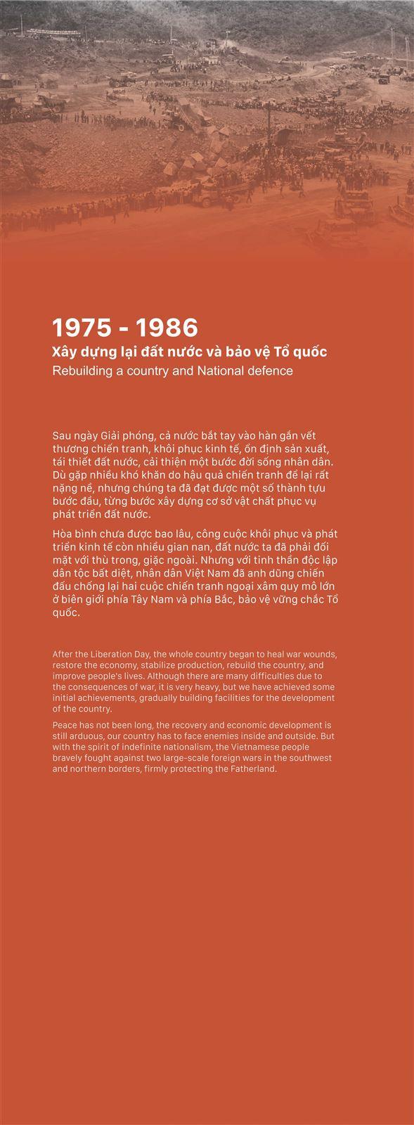 Chủ đề 2: Xây dựng lại đất nước và bảo vệ Tổ quốc (1975 - 1986)