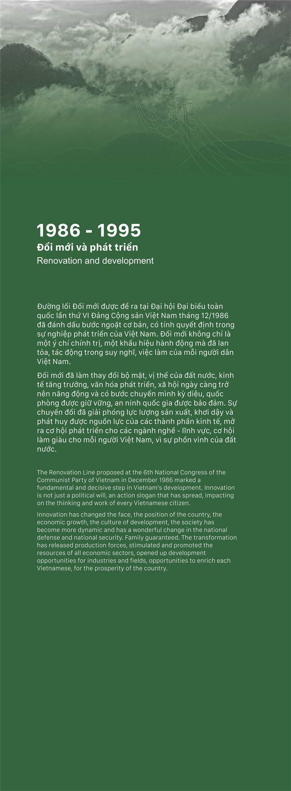 Chủ đề 3: Đổi mới và phát triển (1986 - 1995)