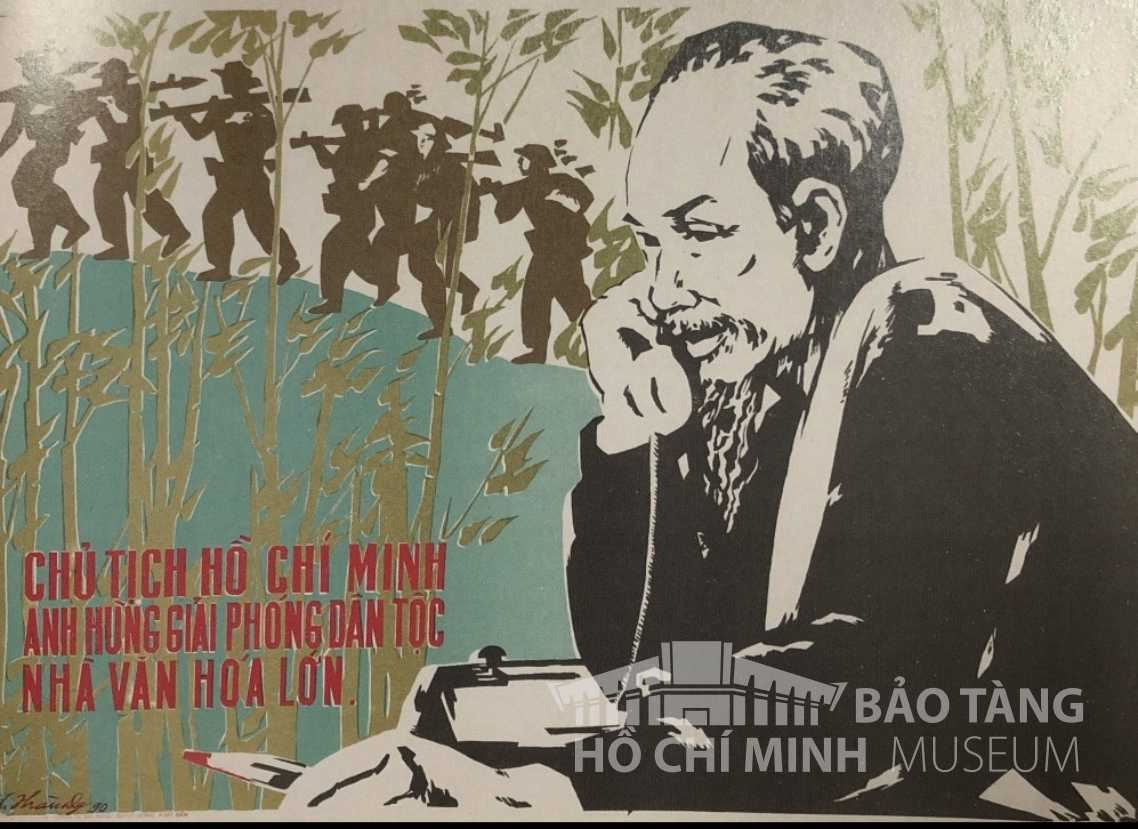 Tranh: Lai Thành In lưới, 1990 Nguồn: Bảo tàng Lịch sử Quốc gia
