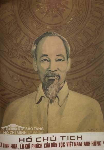 Tranh: Trần Đăng Ninh Bột màu, 1979 Nguồn: Bảo tàng Hồ Chí Minh