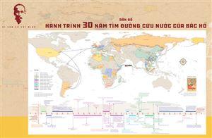Ấn hành Bản đồ Hành trình 30 năm tìm đường cứu nước của Bác Hồ