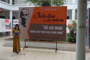 """Khai mạc triển lãm lưu động """"Hồ Chí Minh – Những nét phác họa chân dung"""" tại trường Đại học Nông lâm, Đại học Huế"""
