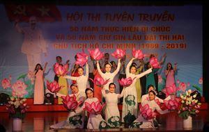 """Hội thi tuyên truyền """"50 thực hiện Di chúc và 50 năm giữ gìn lâu dài thi hài Chủ tịch Hồ Chí Minh (1969-2019)"""""""
