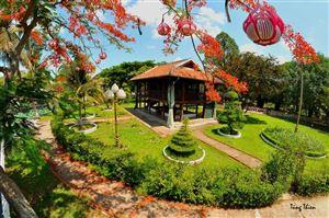 Tháng 5 nhớ Bác về thăm mô hình Nhà sàn Bác Hồ tại Khu Di tích Nguyễn Sinh Sắc