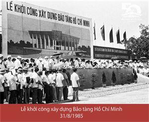 [Ảnh] Trên công trường xây dựng Bảo tàng Hồ Chí Minh