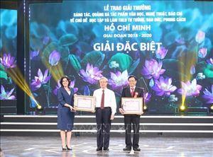 Trao Giải thưởng sáng tác về chủ đề Học tập và làm theo tư tưởng, đạo đức, phong cách Hồ Chí Minh
