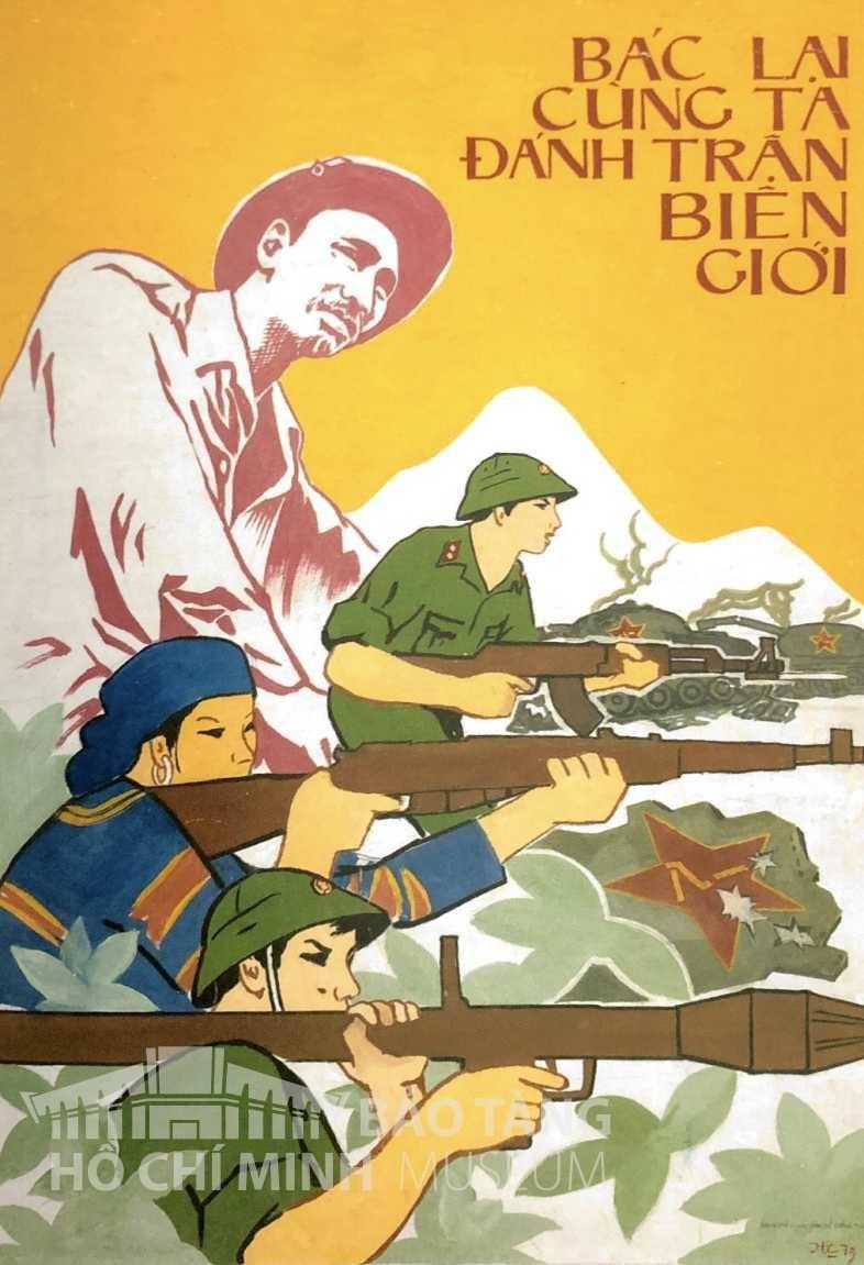 Tranh: Huy Hà Bột màu, 1979 Nguồn: Bảo tàng Hồ Chí Minh
