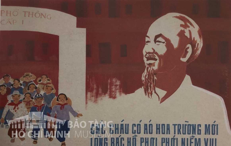 Tranh: Phạm Duy Phương Bột màu Nguồn: Bảo tàng Hồ Chí Minh