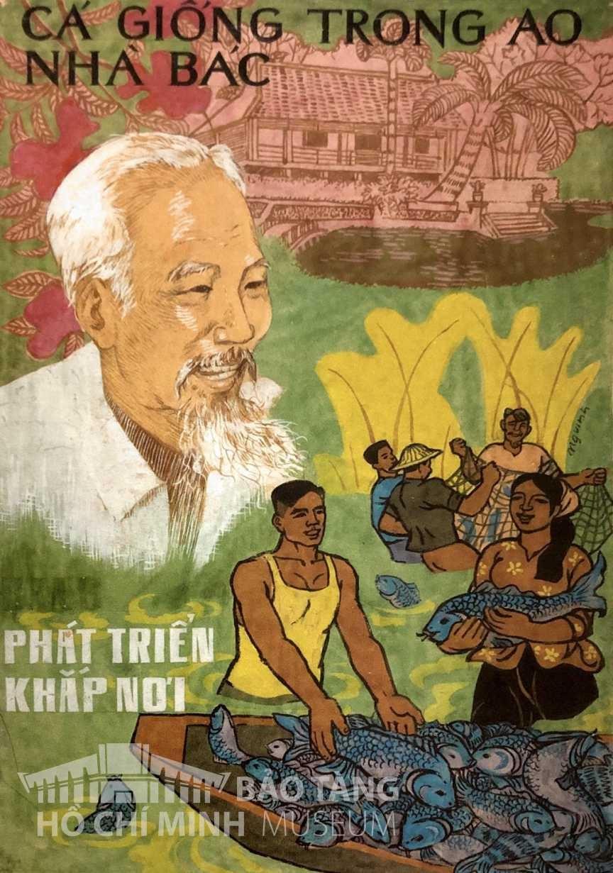 Tranh: Nguyễn Vinh Bột màu Nguồn: Bảo tàng Hồ Chí Minh