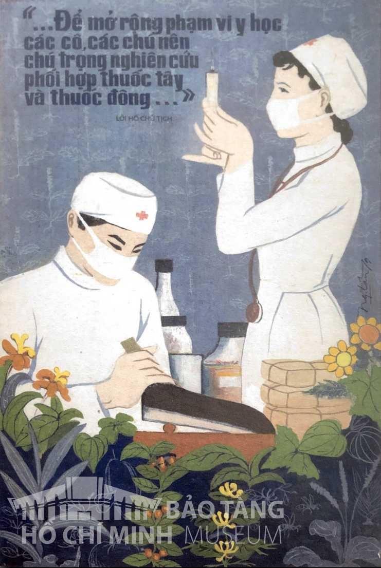 Tranh: Bùi Ngọc Lân Bột màu, 1979 Nguồn: Bảo tàng Lịch sử Quốc gia